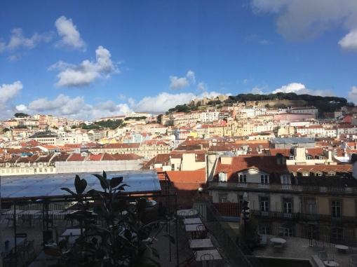 View of a window on Lisboa