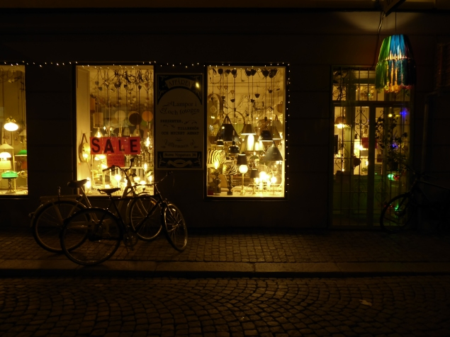 Shop and bike in Stockholm